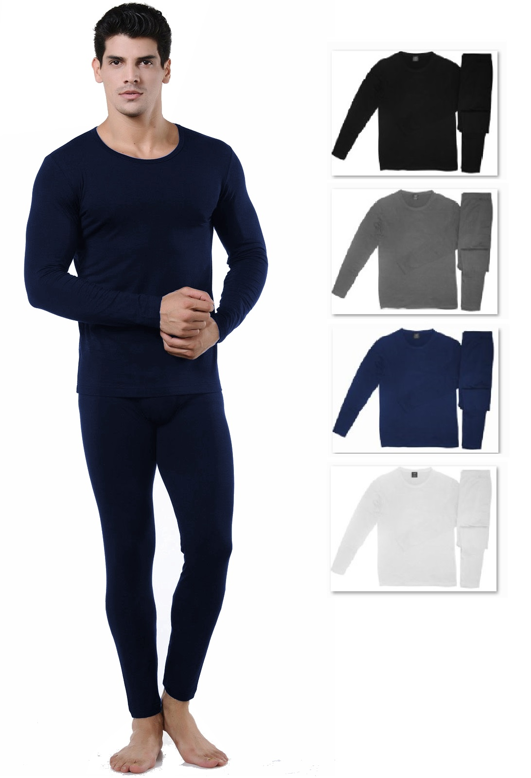 official shop custom convenience goods Men's Ultra Soft Tagless Fleece Lined Thermal Top & Bottom Long Johns  Underwear Set
