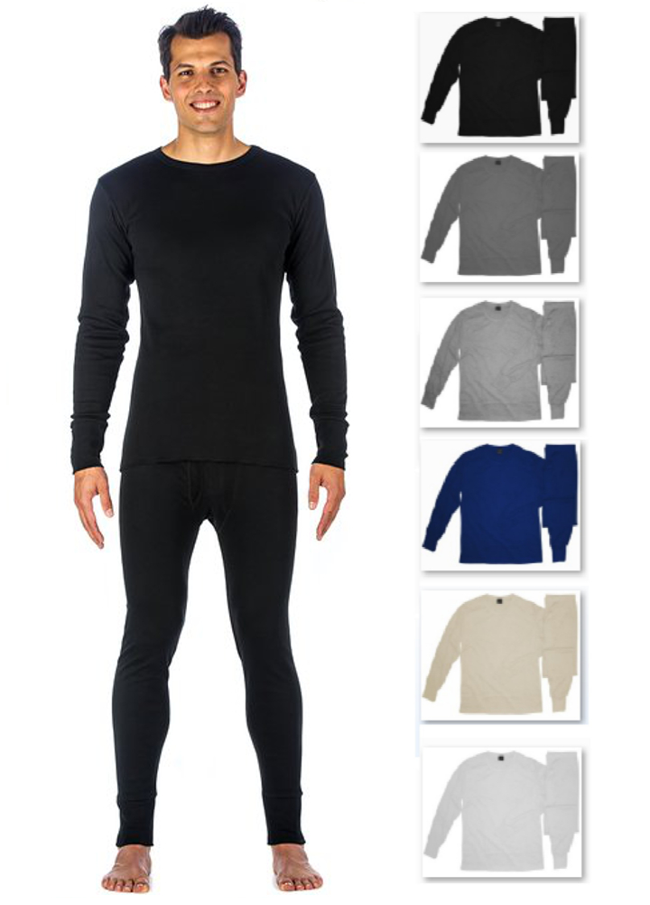 efb6707af266 Men's 100% Cotton Light Weight Waffle Knit Tagless Thermal Top ...