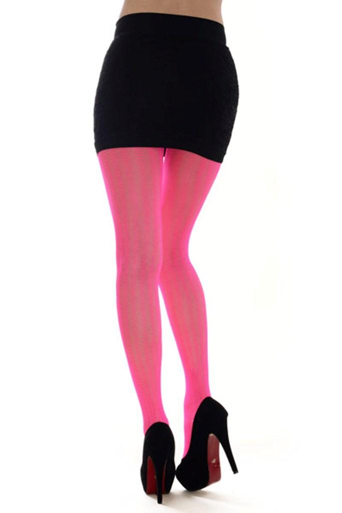 5adc19125f0e6 Killer Legs Women's Sea Shell Pattern Fashion Fishnet Tights Hot Neon Pink