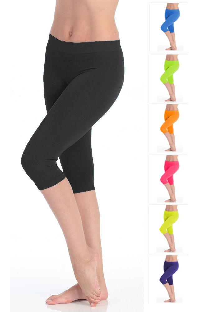 d0064938ecc70 Victoria® Women's High Waist Seamless Capri Leggings | Lillian Z's ...
