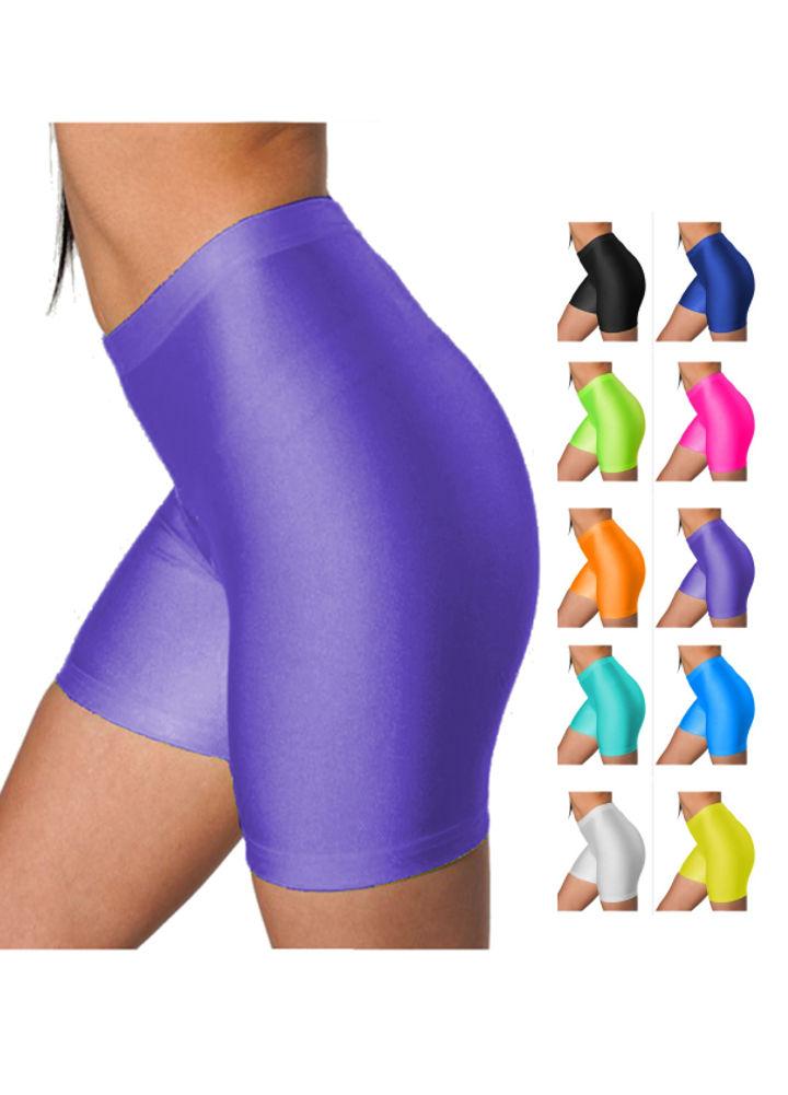 b7eb4d21c2be8 Victoria® Women's Shiny Nylon High Waist Stretchy Tricot Skinny ...